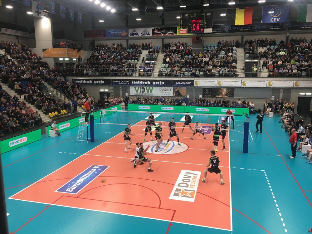 einde set volleybal