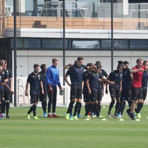 Club Brugge - Lask Linz: laatste training (Foto Belga)